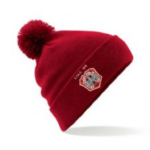 C.I.A.C. Red Bobble Hat
